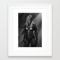 batgirl Framed Art Prints featuring Batgirl by Emile Denis