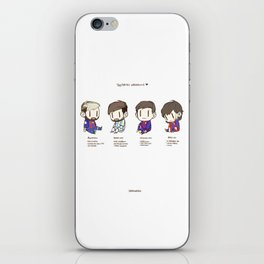 Tiny Messi, pack of 4 iPhone Skin