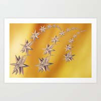 constellation Art Prints featuring constellation by Tanja Riedel