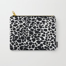 Animal Print Cheetah Black and White Pattern #4 Carry-All Pouch