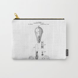 patent art Edison 1892 Incandescent electric lamp Carry-All Pouch