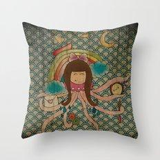 I'm A Little Octopus Throw Pillow