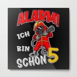 5. Kindergeburtstag Feuerwehr Kinder Metal Print