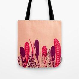 Pink plant Tote Bag
