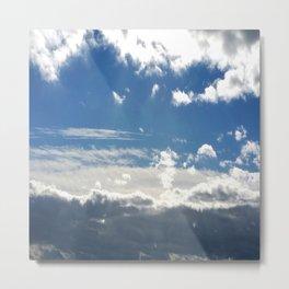 Windy Day Sky Metal Print