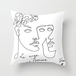 Jean Cocteau Homme  Throw Pillow