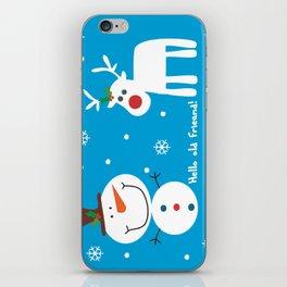 Snow men iPhone Skin