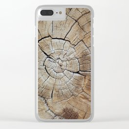 Tree rings of time Clear iPhone Case