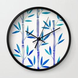 Bamboo Stems – Indigo Palette Wall Clock