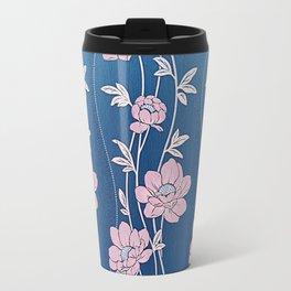 Rose Quartz Flower Garlands Travel Mug