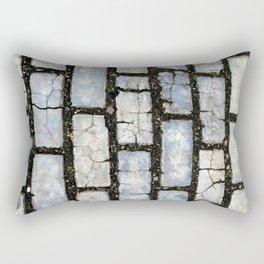 Blue Street Grid Rectangular Pillow