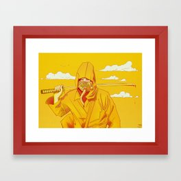 Yellow Samurai Framed Art Print