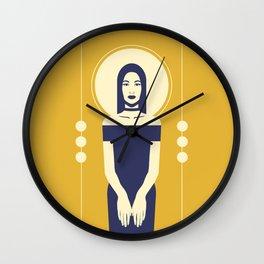 Phaedra Yellow Wall Clock