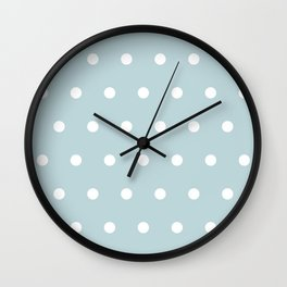 Small White Dots on BBLue Wall Clock
