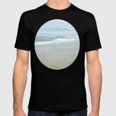 The Ghostly Sea MEDIUM Black Mens Fitted Tee