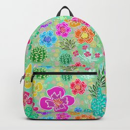 Cactus Festival Party - Green Backpack