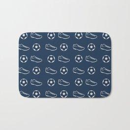 The Soccer Pattern Bath Mat