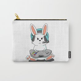 Gaming Bunny Gamer Rabit Headset Gamepad Gift Carry-All Pouch