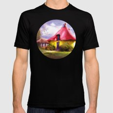 Once upon a time Black Mens Fitted Tee MEDIUM