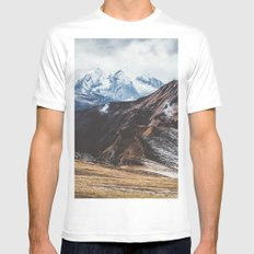 rustic mountains Mens Fitted Tee White MEDIUM