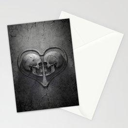 Gothic Skull Heart Stationery Cards