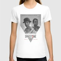 poster T-shirts featuring Inspector Spacetime  by Sam Spratt