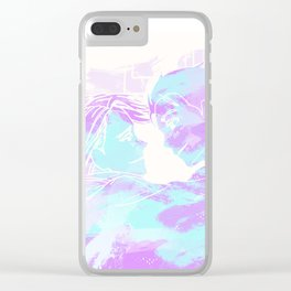 Love on ice Clear iPhone Case