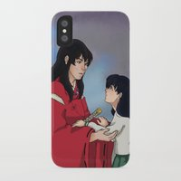 inuyasha iPhone & iPod Cases featuring InuKag by nico_lle