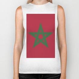 Morocco flag emblem Biker Tank