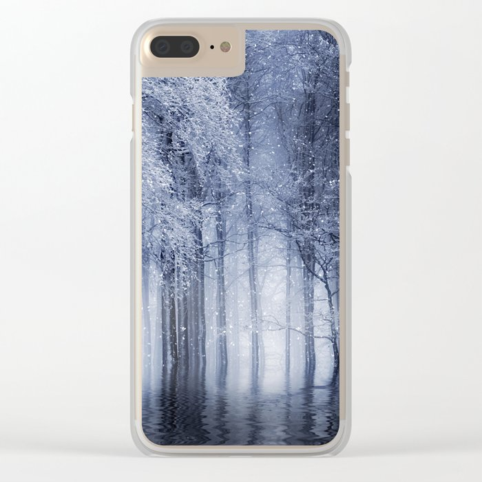 Mystical Winter Lake Clear iPhone Case