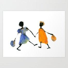 Alika & Zeila Art Print