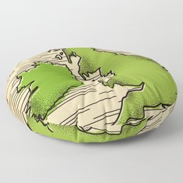 Great Britain By Rail Floor Pillow
