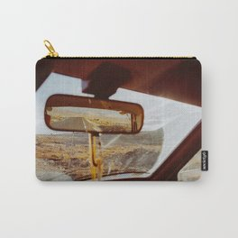 Driving in Rural Scandinavia - Closeup of Wild Landscape in Car Carry-All Pouch
