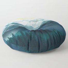 Mountain Range Floor Pillow