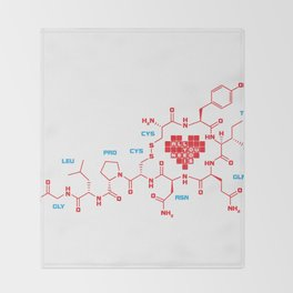 The chemistry of love Throw Blanket
