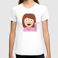 emoji T-shirts featuring Sassy Emoji by Brittany Metz
