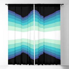 70s 80s Retro Colors Palette Blue 1 Blackout Curtain