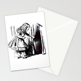 Alice Discovers the Universe Stationery Cards