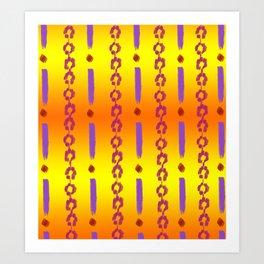 Golden Violet Art Print