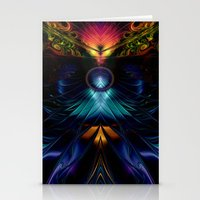 stargate Stationery Cards featuring Stargate Fractal Abstract by BohemianBound
