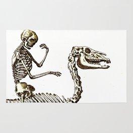 Horse Skeleton & Rider Rug