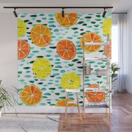 Citrus Lily (white) Wall Mural