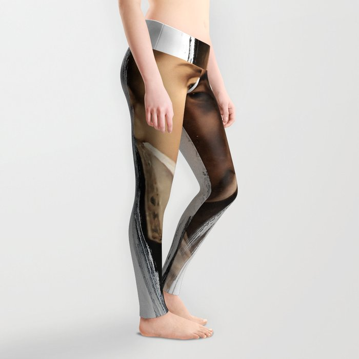 Brutalized Portrait of a Gentleman 2 Leggings