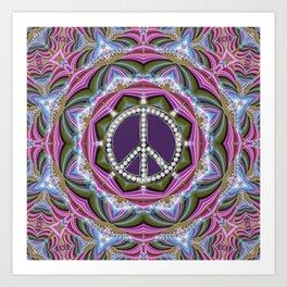 Happy Hippy Psychedelic Sparkle Art Print