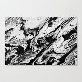 BLACK/WHITE RIPPLE 3 Canvas Print