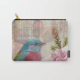 Vintage Birds & Feminine Decoupage Carry-All Pouch