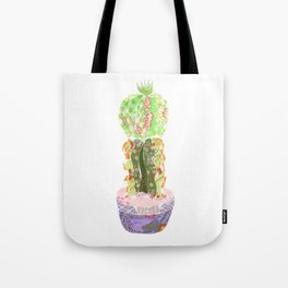 Papercraft Cactus in Green Tote Bag