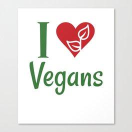 Vegan - I love vegans family Gift Canvas Print