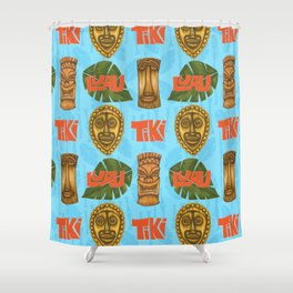 Tiki Goodness Shower Curtain