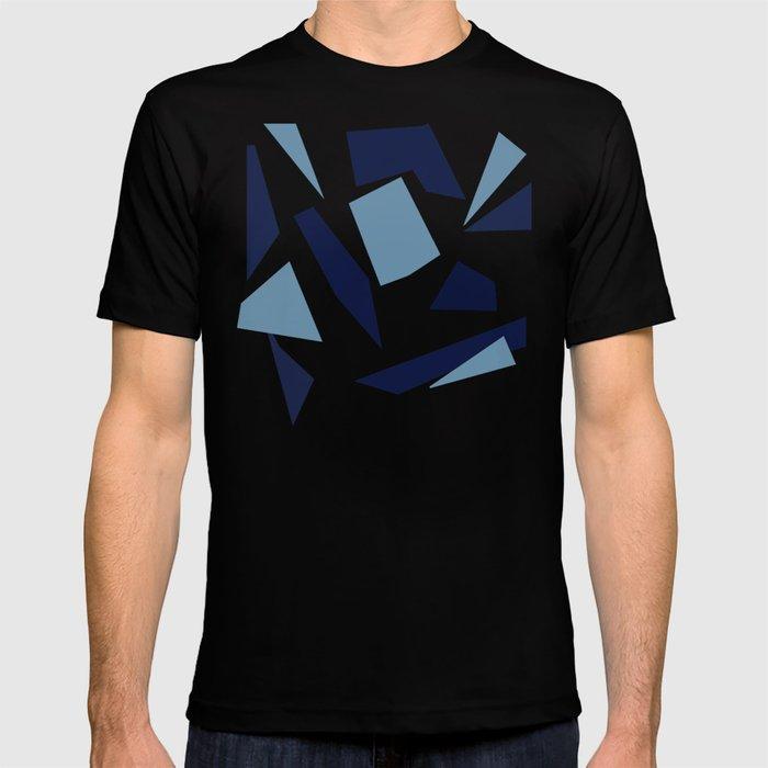 Peckham Blue Abstract Map T-shirt